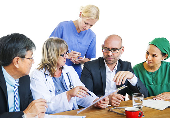 Healthcare Workers Having a Discussion